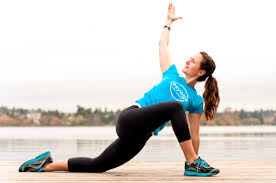 Runner's lunge, second pose.